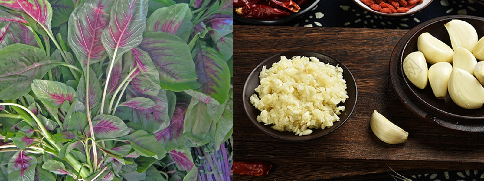 Amaranth and Garlic
