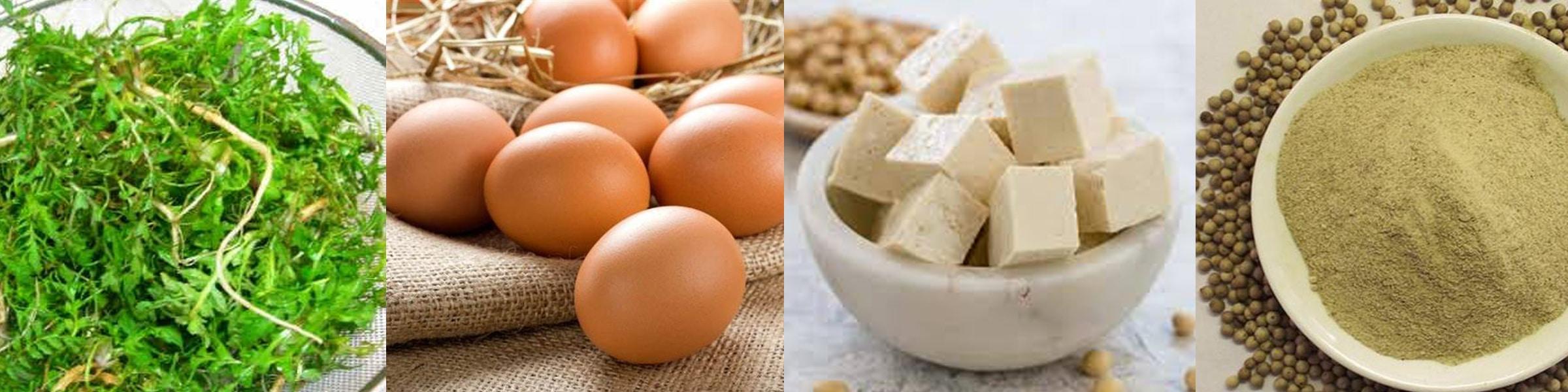 Ingredients Of Shepherd's Purse Tofu Soup